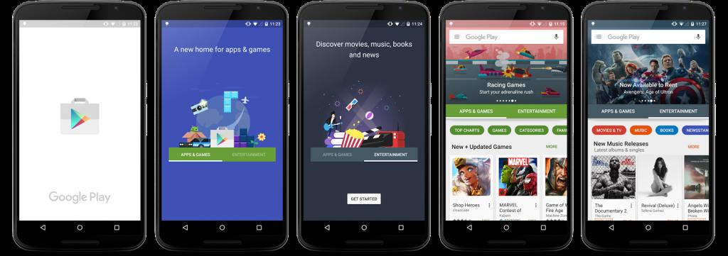 Google Play Storeの次期デザイン(画像: Google+)