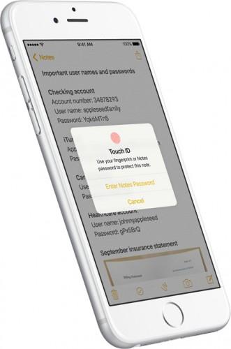 メモにパスワードをかけられるように。