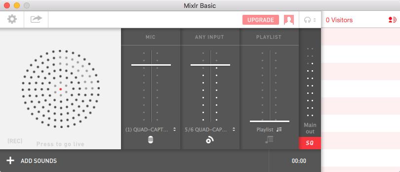 Mixlrの配信アプリ